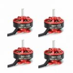 4X Racerstar Racing Edition 1103 BR1103 10000KV 1-2S Brushless Motor Red For 50 80 100 RC Multirotor