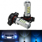 H16 Fog Light Projector LED Bulb 5202 2835 24W With Lens Blue White 42 SMD