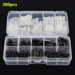 "Suleve""¢ M3NH6 M3 Nylon Screw White/Black Hex Screw Nut Nylon Pcb Standoff Assortment Kit 300pcs"