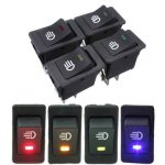 Universal Car Boat Van Fog Light Rocker Switch LED Dash Dashboard 4Pin