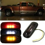 For Ford F350 F450 LED Fender Bed Side Marker Lights Lamps Smoke Lens