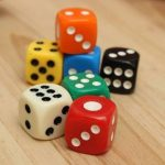 20 pcs Bar Pub Party 14mm Six Sided Spot D6 Playing Games Dice Set