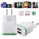 Universal Mini USB Dual Ports Wall Chargers Power Adapter for Tablet Cellphone