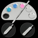 Stainless Steel Cosmetic Makeup Color Mixing Palette Spatula Nail Art Tool Set