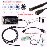 Endoscope Inspection Waterproof Camera 5.5mm Digital 5m USB For Android Phone