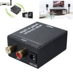 Analog L/R to Digital SPDIF Coaxial Coax RCA with Optical Toslink Audio Converter
