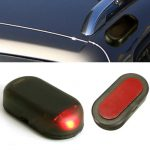 Car Solar Power 1.2V Red LED Alarm Anti-theft Warning Light Lamp
