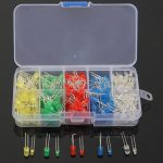 300Pcs 3mm 5mm LED Diode 10 Values Assortment Kit For Arduino
