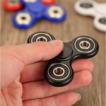 Fidget Hand Spinner Fingertips Gyro Stress Reliever Toy Tri-Spinner Whiny For Autism And ADHD Kids