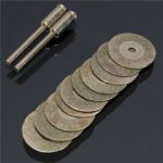 10pcs 20mm Emery Diamond Coated Double Side Cutting Disc with 2 Joint Lever