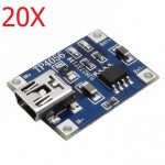 20X TP4056 5V 1A Lipo Battery Mini USB Charging Board Charger Module