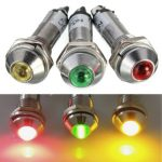 8mm LED Dashboard Panel Indicator Warning Light Bulb Lamp 12V For Car Lorry Boat