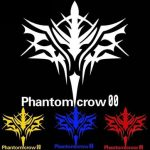 Motorcycle Car Sticker Phantom Crow 12x12cm Fashion Reflective Decals 5 Colors