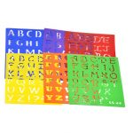 Plastic Drawing Font Alphabet Stencil Letters Uppercase Lower Case Craft Set