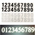 Number Reflective Sticker Car Vinyl Decal Street Address Mailbox Number Stickers White Black