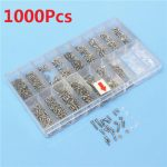 1000pcs Glasses Sunglass Spectacles Screws Nut Repair Kit With a Plastic Case