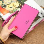 "Women Bowknot Long Wallet Zipper Purse Clutches Bags 5.5"" Phone Bags For Iphone 7Plus"