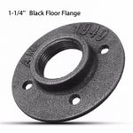 1-1/4 Inch DN32 Malleable Threaded Floor Flange Steel Iron Pipe Fitting Wall Mount
