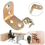 90 Degree Metal Corner Brace Right Angle Shelf Support Bracket Cabinet