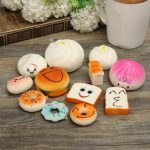 12Pcs Random Squishy Soft Bread/Donut/Buns Phone Straps
