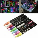 8PCS LED Writing Board Pen Fluorescent Liquid Chalk Marker 3mm Bullet Tip Pen
