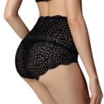 Women Bamboo Fiber Sexy Floral Lace High Waist Seamless Breathable Panties Underwear
