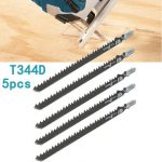 5pcs HCS T-shank Saw Blades Wood Plastics Plywood Cutting Tools for Jigsaw