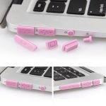 Colorful Soft Silicone Anti Dust Plug Ports Set For Macbook Pro Retina 13.3 15.4