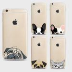 Funny Cat Dog Cartoon Pattern Soft Ultra-thin Transparent TPU Silicone Case Cover For iPhone 7