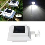 Garden Solar Fence Gutter 3 LED Light Super Bright Outdoor Yard Aisle Panel Lamp