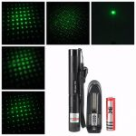303 Adjustable Focus 1mw Green Laser Pointer Suit Extension Tube