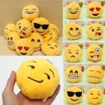 8CM Cute Individuality Emoji Expression Keyrings Plush Key Chains