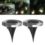 3 LED Solar Powered Waterproof Outdoor Lamp Yard Fence Garden Pathway Lawn Light