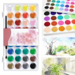 36 Assorted Colors Solid Watercolor Artist Painting Pigment Box Set