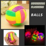 Light Up Volleyball Sounding Flashing Bouncing Balls Hedgehog Ball Kids Toy
