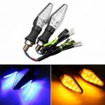 12V LED Motorcycle Turn Lights Indicators Blue
