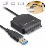USB 3.0 to SATA 2.5 inch 3.5 inch Hard Drive Converter Cable 12v Power Adapter 5Gbps