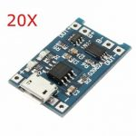 20Pcs USB Lithium Battery Charger Module With Charging And Protection