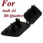 A Pair of Left Right Bumper Headlight Headlamp Washer Cap Cover for Audi A4 B6 Quattro