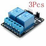 3Pcs 2 Way Relay Module With Optocoupler Protection