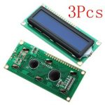 3Pcs 1602 Character LCD Display Module Blue Backlight