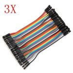 120Pcs 10cm Female To Female Jumper Cable For Arduino