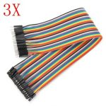120Pcs 30cm Male To Female Jumper Cable For Arduino