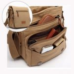 Men Canvas Leisure Crossbody Bag Outdoor Casual Shoulder Bag