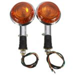 Amber Turn Indicator Signal Light Blinker Lens For Yamaha Virago XV1100 1985-1999