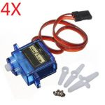 4 X SG90 Mini Gear Micro 9g Analog Servo