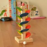 Wooden Tree Baby Kids Children Intelligence Educational Toy Marble Ball Run Track Game