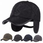Men Male Earflap Earmuffs Water Proof Baseball Cap Adjustable Blank Golf Sport Outdoor Hat