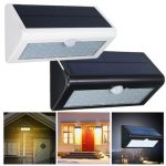 38 LED Solar Power PIR Motion Sensor Light Outdoor Wall Garden Fence Shed Flood Lamp