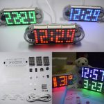 Geekcreit DIY DS3231 Touch Key Precision High-Brightness LED Dot Matrix Display Desktop Alarm Clock Kit